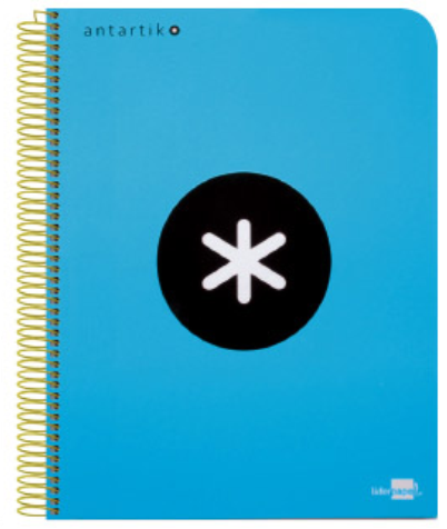 cuaderno Antartik azul